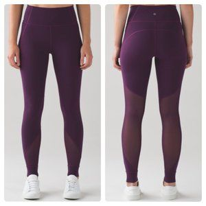 Lululemon Hot Like Agni Pant Darkest Magenta